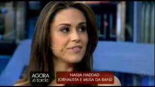 Nadja Haddad no Agora é Tarde com Danilo Gentili