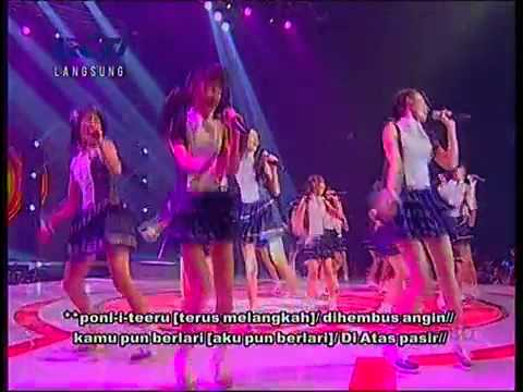 JKT48 - Ponytail To Shushu+Lyric @ Mega Konser JKT48 RCTI 2012-07-17 - by:hanana dzakiyah