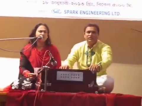 Amay Eto Rate Kanay Dak Dili, Roksana Lipe singing at Nazrul Institute