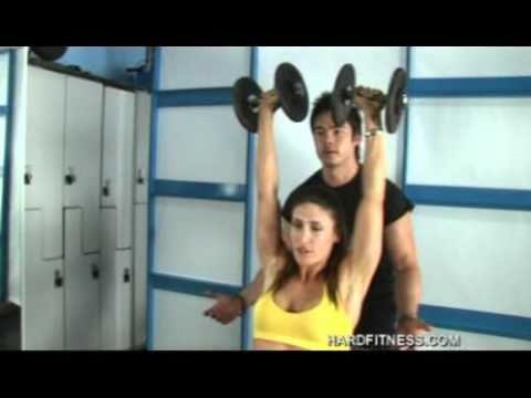 Weight training shoulders www.annieclark.com.au