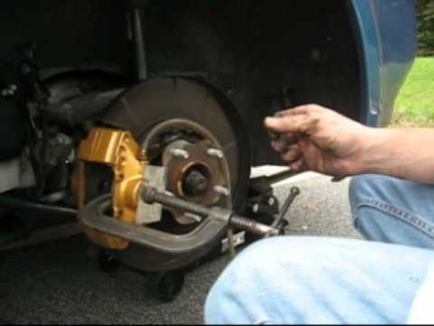 Right rear complete brake replacement - YouTube