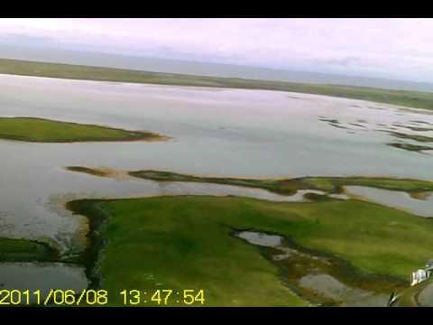 RC Thrush over Caribish, North Uist, Western Isles
