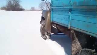 ГАЗ-53 по глубокому снегу ч.1