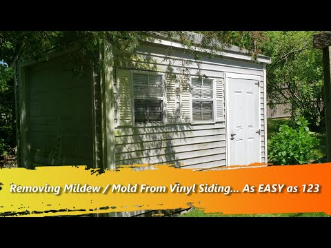 How to Easily Remove Mold / Mildew & Clean Vinyl Siding with a Garden Hose & Mold Armour House Wash
