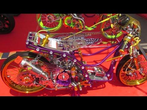Modifikasi Motor Matic Drag Race KINCLONG - Honda Beat Modifikasi (Matic Drag Bike Indonesia)