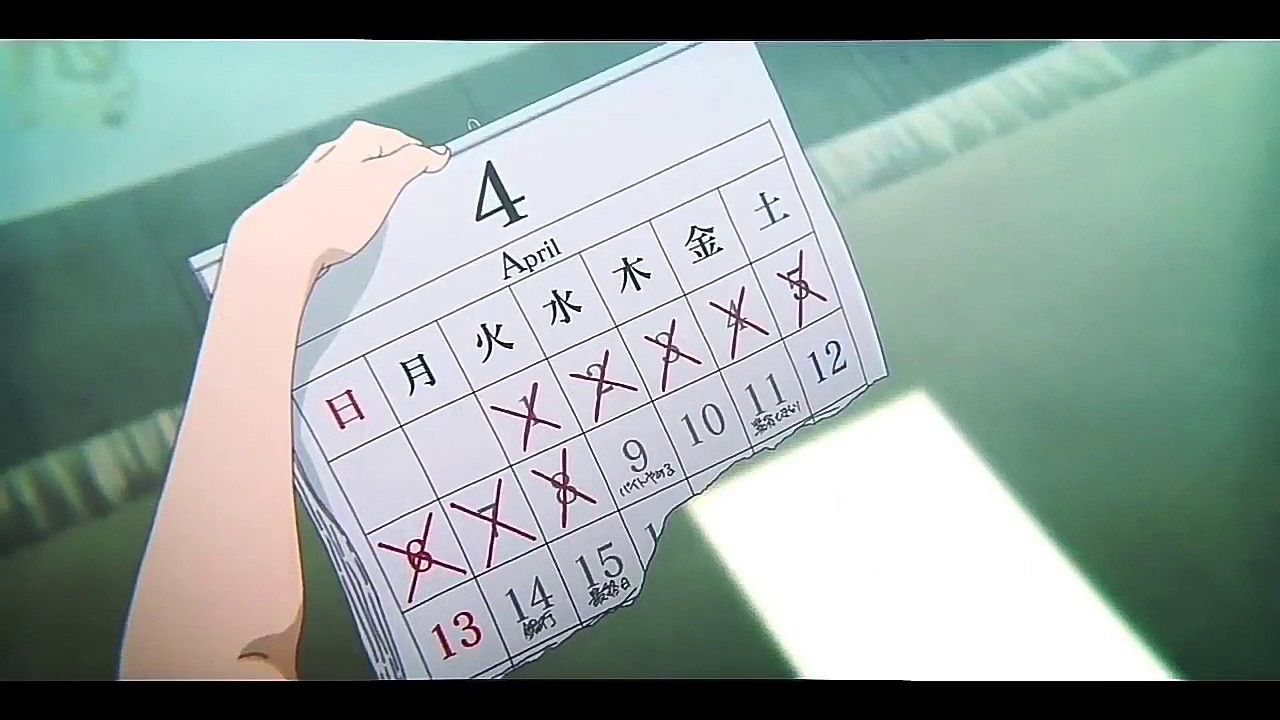 Image result for koe no katachi calendar