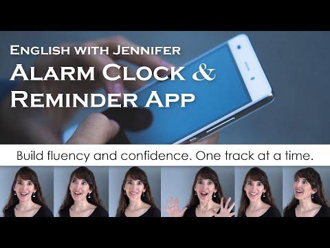 NEW! ??English with Jennifer Alarm Clock & Reminder App