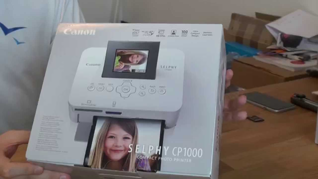 Canon Selphy Cp1000 Fotodrucker Unboxing Youtube Compact Photo Printer White