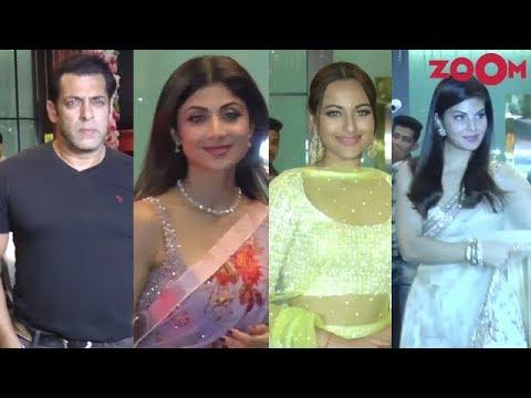 Arpita Khan's Diwali Party 2018 | Salman Khan, Arbaaz Khan, Sonakshi Sinha, Shilpa Shetty thumbnail