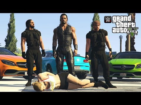 THE SHIELD SAVE RONDA ROUSEY | GTA 5 WWE 2K19 MODS (Roman Reigns, Seth Rollins & Dean Ambrose)