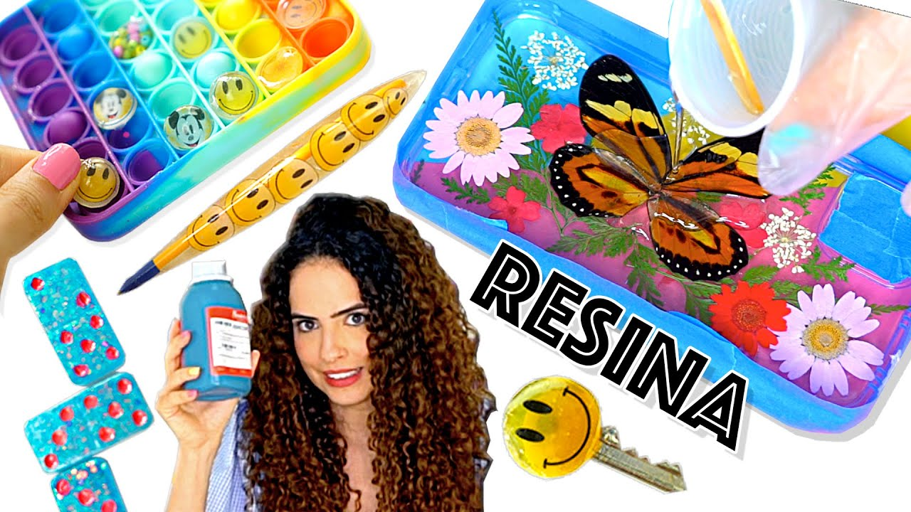 TESTANDO DIYs DE RESINA DO TIKTOK! MOLDES DA SHEIN vs MOLDES CASEIROS! Paula Stephania