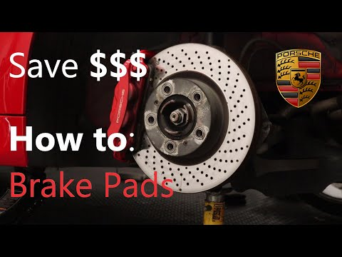 How to replace Brake Pads on the Porsche 981, 991, 718, 911, Boxster, Cayman. Service Repair Rotors