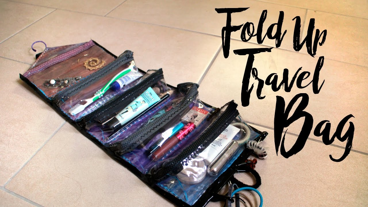 DIY FOLD UP TRAVEL BAG mimiz world YouTube