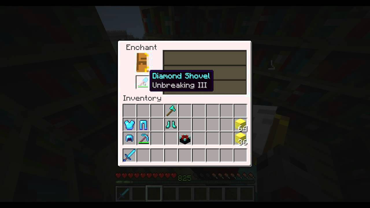 ★Minecraft - Enchanting Tutorial - Best Diamond Tools - Killing Machine