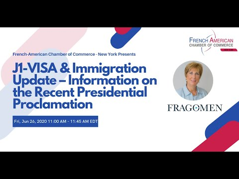 J1 VISA & Immigration Update – Information On The Recent Presidential Proclamation