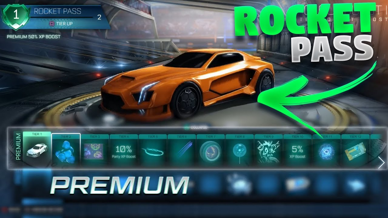 First Look At The Rocket Pass On Rocket League - YouTube