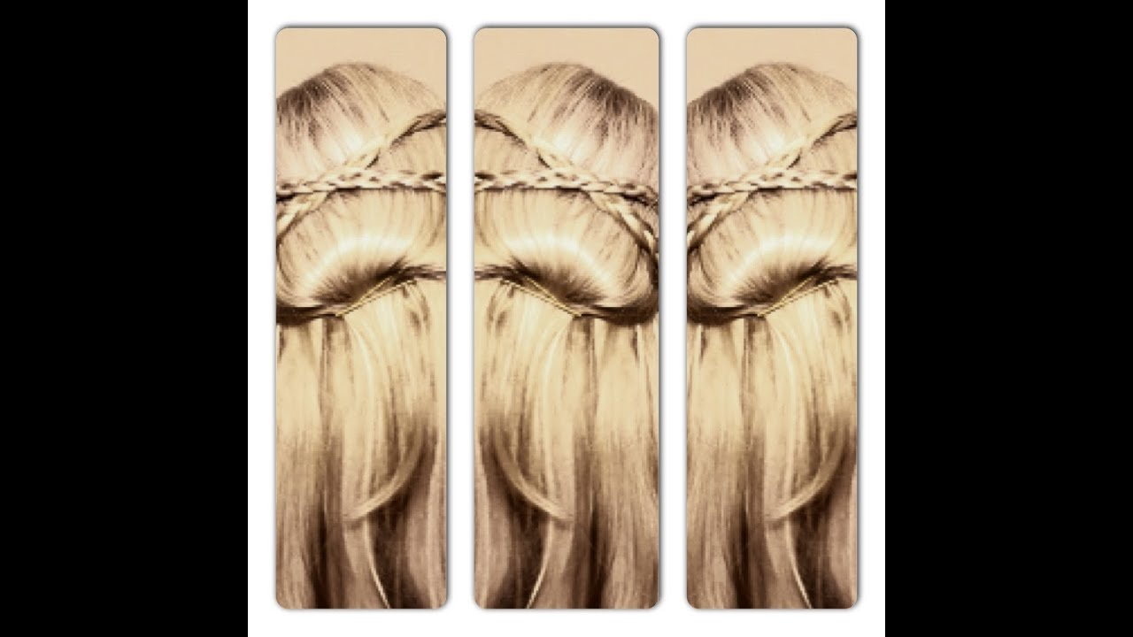 Braided Princess Hairstyle Easy Half Up Half Down