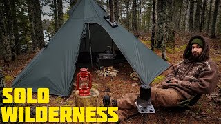 Solo Hot Tent Camping