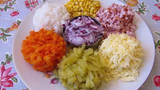 Салат Палитра вкуса - очень красиво, необычно и вкусно. Без майонеза.