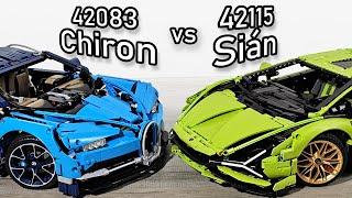 LEGO Bugatti Chiron vs LEGO Lamborghini Sian | LEGO 42115 vs 42083 | LEGO 42083 vs 42115
