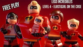 Lego Incredibles (PS4) - Level 4 - Elastigirl On The Case (Free Play #1)