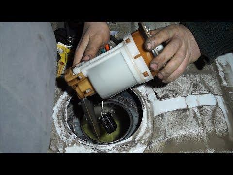 Замена топливного фильтра Toyota Corolla e120