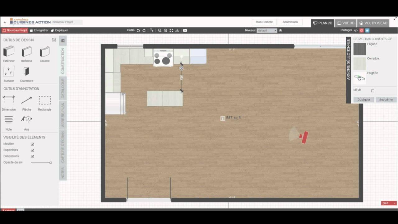 Dessiner sa cuisine en 3d dessiner sa cuisine en ligne for Logiciel gratuit pour amenager sa cuisine