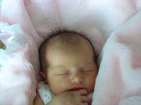 Beautiful newborn baby girl sleeping two days old youtube