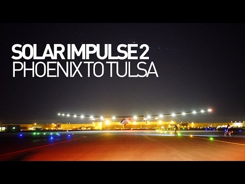Solar Impulse Airplane - Leg 11 - Flight Phoenix to Tulsa