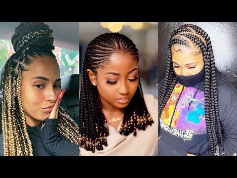 😍😍❤️trendiest!!!-most-beautiful-#new-hair-braiding-for-ladies:-latest-unique-#2020-braids-hairstyles