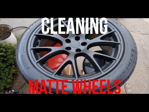 How I clean my matte wheels and tires