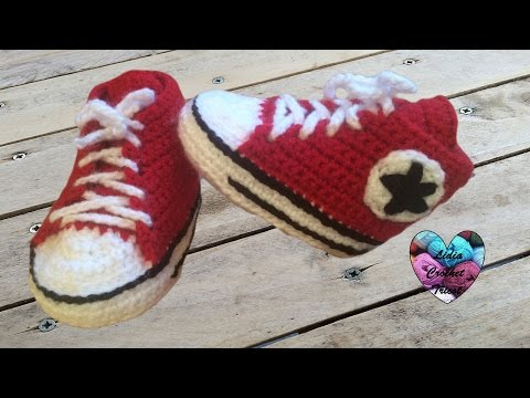Crochet Baby Converse 12 Shoes Bébé Chaussures All Stars trQdsCh