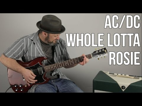 ACDC Guitar Lesson For Whole Lotta Rosie
