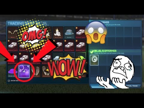 BLIND TRADING WITH BETA NUGGET & BUBBLY | NO WAY THIS HAPPENED | ROCKET LEAGUE