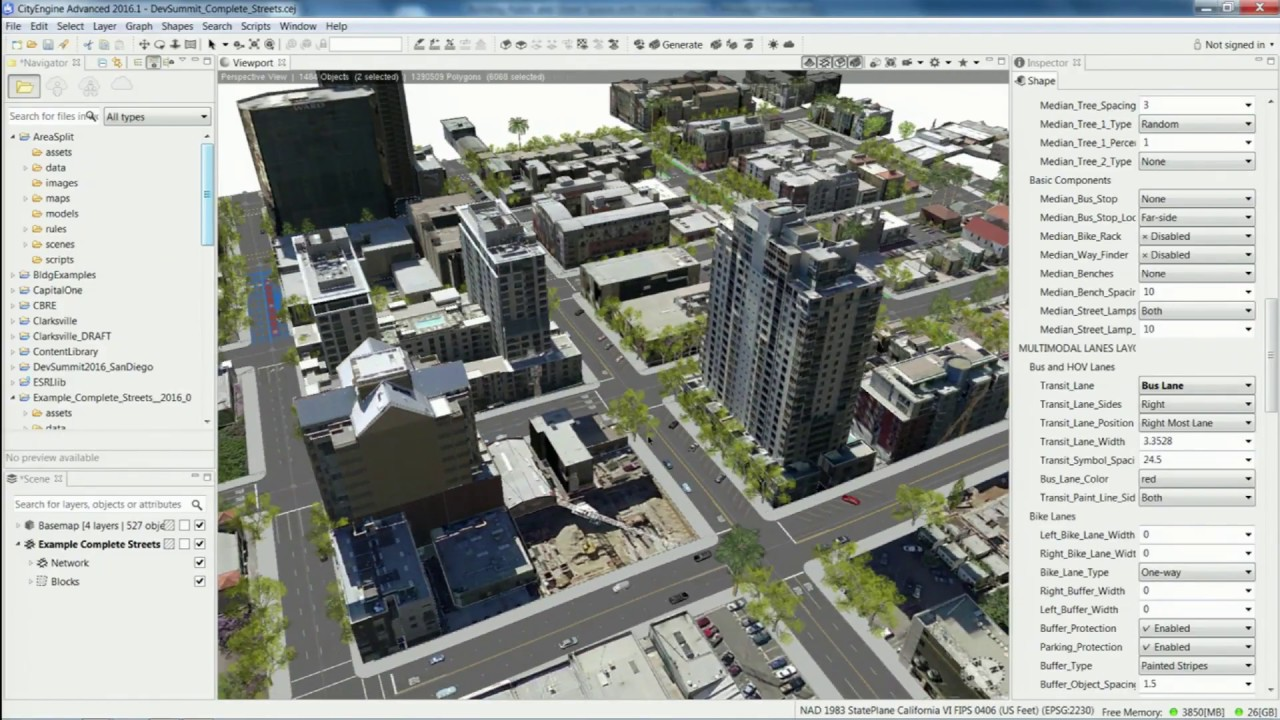 Building Public and Street Spaces with CityEngine