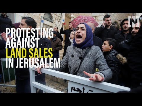 Palestinians protest against land sales