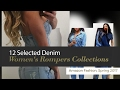 12 Selected Denim Women's Rompers Collections Amazon Fashion, Spring 2017