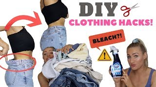 TESTING DIY CLOTHING HACKS | FOR CUTE CLOTHES & THE PERFECT FIT!