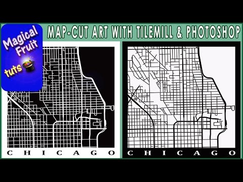 Simulate Cut Maps Art with Photoshop