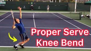 Dominic Thiem Serve Knee Bend (Advanced Tennis Tips)