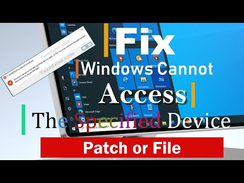 Fix - Windows Cannot Access The Specified Device Path Or File | Expert Advice - Tezadvise.com 👍