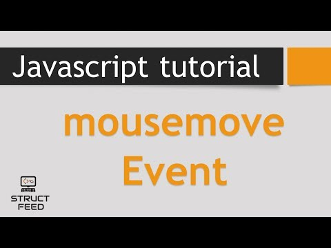 Javascript MouseMove Event