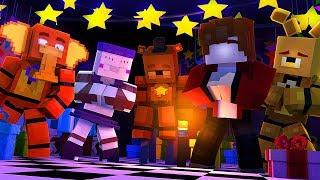 Minecraft FNAF 6 Pizzeria Simulator - WISHING ROCKSTAR FREDDY TO COME BACK! (Minecraft Roleplay)