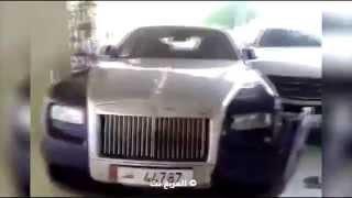 """""""فيديو"""" مخمور يحطم رولز رويس ومرسيدس في فندق شيراتون الدوحة"""