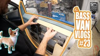 Mocking up my door panel frame for FLEECE - Bass Van Vlogs #23