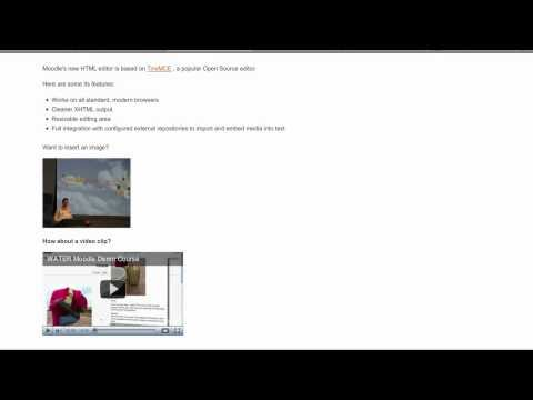 HTML Editor In Moodle 2.0