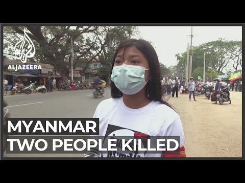 Myanmar police shoot dead 2 protesters in bloodiest post-coup day