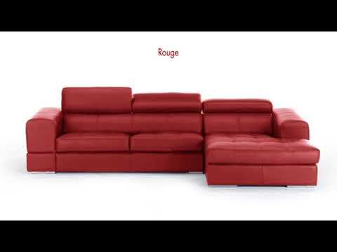 canap d 39 angle xxl en cuir de vachette baldini ii youtube. Black Bedroom Furniture Sets. Home Design Ideas