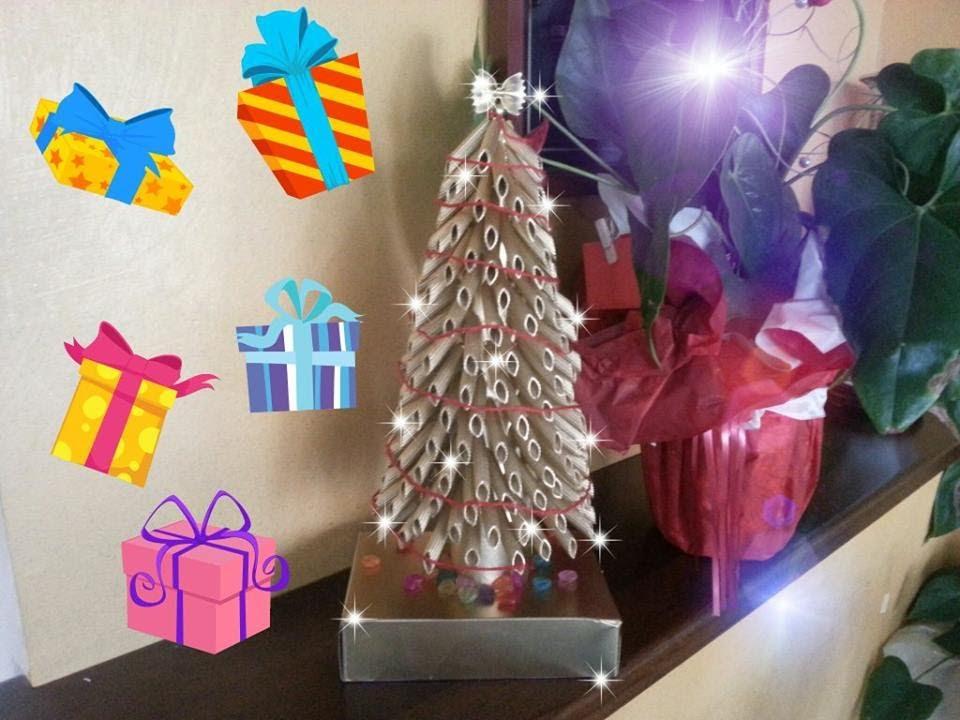 Tutorial Di Lavoretti Di Natale.Tutorial Albero Di Natale Con La Pasta Riciclo Diy