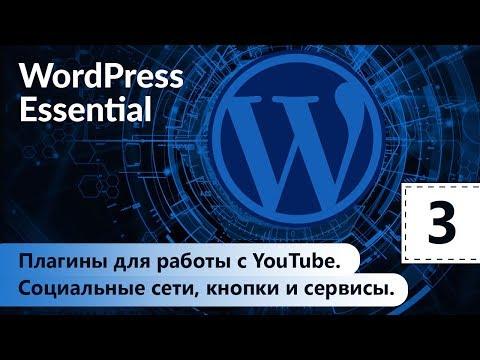 Социальные сети, кнопки и сервисы. Плагины для работы с YouTube. WordPress. Базовый курс. Урок 3.